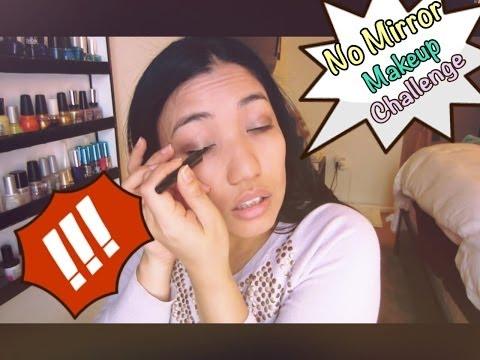 鏡なしメイクチャレンジNo Mirror Makeup Challenge