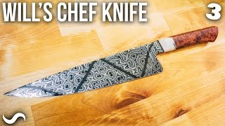 MAKING A TWISTED MULTI-BAR CHEF'S KNIFE!!! PART 3