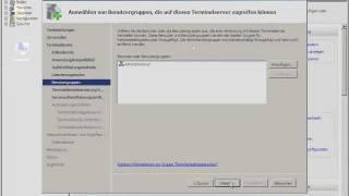 TUT Win Terminalserver 2008 | Benutzer und Gruppen, Remoteapps installieren | Teil 4 HD