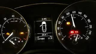 Намотка пробега Skoda SuperB 2012  на месте не запустив мотора