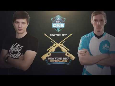 ESL One NY 2017 AWP Challenge Round 2 -  S1MPLE vs. SKADOODLE
