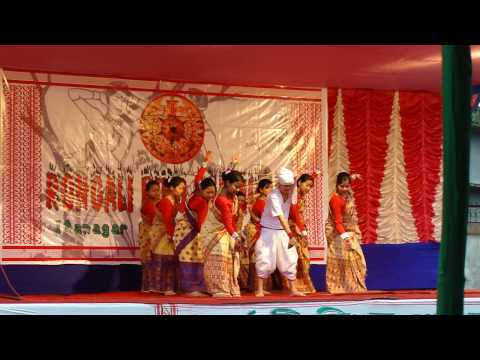 Bihu Dance Performed By Special Children  In Itanagar (14.4.2010) video