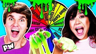 Mystery Wheel of SLIME Challenge! Spin the wheel for DIY slime recipes