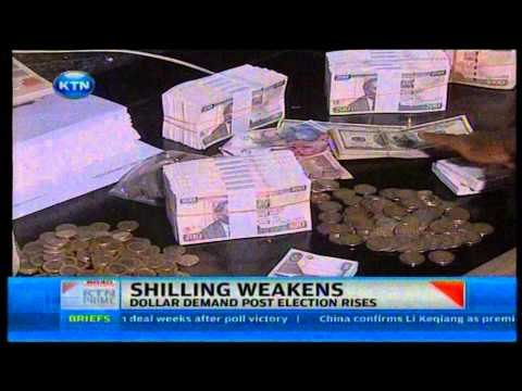 News: The Shilling weakens