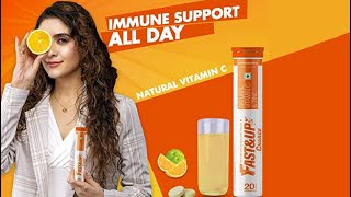 Fast&Up Charge with Natural Vitamin C and Zinc for Immunity Boosting