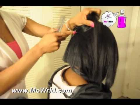 MoWrld: Quick Weave Bob With invisible part and No Leave out
