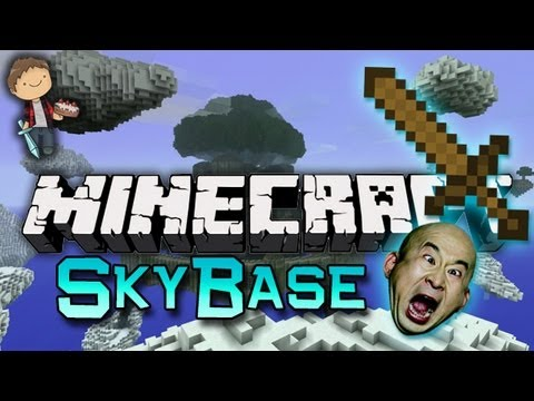 Minecraft: SkyBase Warriors Mini-Game w/Mitch & Friends! Game 3 - Banzai!