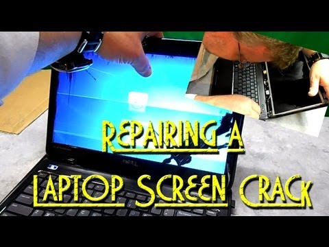 How to Fix Cracked LCD Screen on Dell Inspiron Laptop