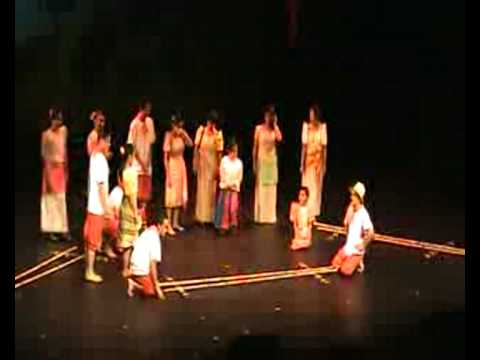 Philippine Slow  &  Fast Tinikling Dance (Filipino folk dance)