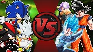 HEDGEHOGS vs SAIYANS! (Sonic Shadow Silver VS Goku Vegeta Trunks) CFC EP 195 ft Anime Live Reactions
