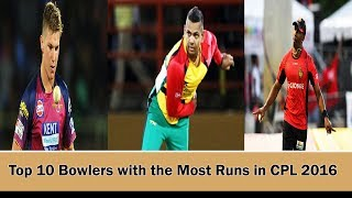 Top 10 Bowlers with the Most Wickets in CPL 2016