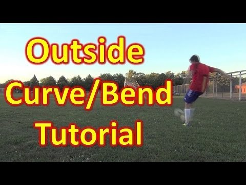 Outside Curve/Bend Soccer/Football Freekick Tutorial - vujojosh