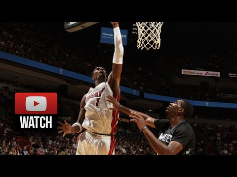 Chris Bosh Full Highlights vs Wolves (2014.11.08) - 24 Pts