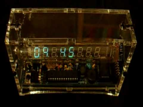 "Adafruit ""Ice Tube"" clock KIT - demo"