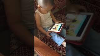 Ivaan Dev Pandey watching YouTube