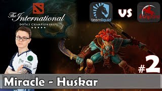 Miracle - Huskar Gameplay | Liquid vs Empire Game 2 | Main Event Lower Bracket TI 2017