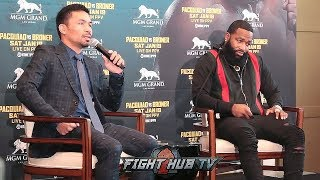 """PACQUIAO TELLS BRONER """"YOU SCARED!?"""" AFTER REVEALING FREDDIE ROACH WILL BE IN HIS CORNER"""