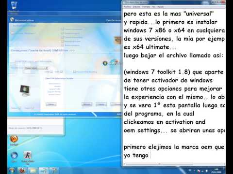 Activacion universal para windows 7 en todas sus versiones
