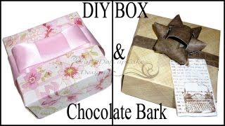 Diy Mother's Day Gift (origami) Box &amp; Chocolate Bark Tutorial (or Father's Day!!!) :)
