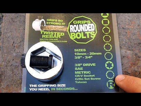 How to Remove Rounded Nuts and Bolts. Go2 Socket Review