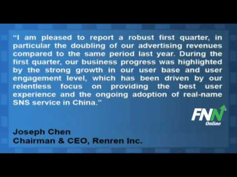 Renren Posts Q1 In-Line, Revenue Up 47% YoY