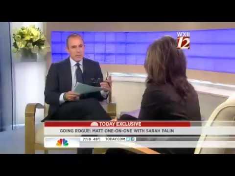 Matt Lauer interviews Sarah Palin
