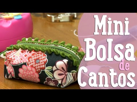 Mini Bolsa de Cantos - Costura Comigo