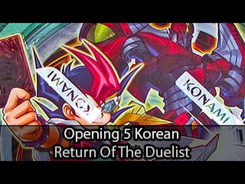Opening 5 Korean Yugioh Return Of The Duelist Packs video