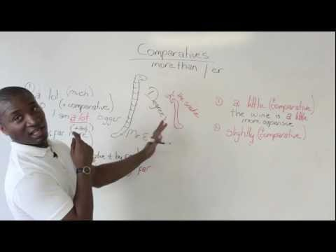 English Grammar: Modifying Comparatives – a lot, far more, much, a little, slightly
