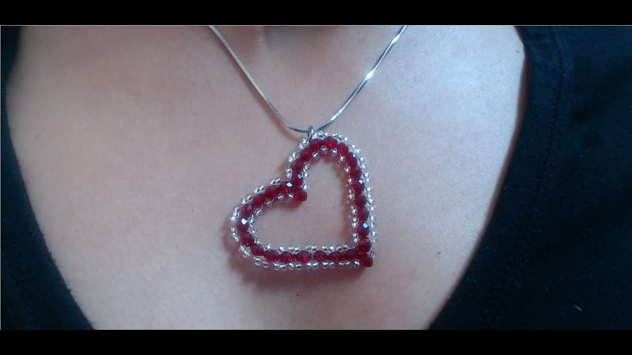 diy crystal heart pendant quick and easy valentines