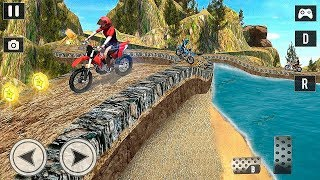 Offroad Moto Bike Impossible Stunt Racing Android Gameplay