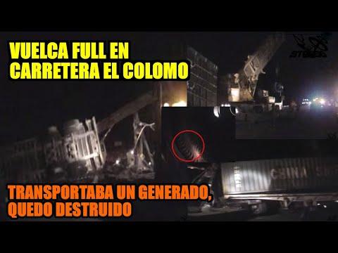Accidente camionero en la carretera Manzanillo – Colima,   y maniobra de levantamiento. STR666