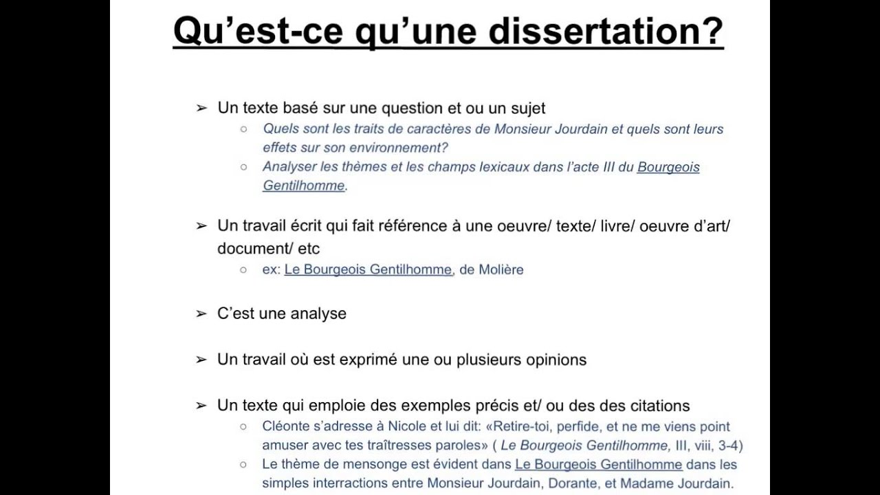 LA DISSERTATION - Magister