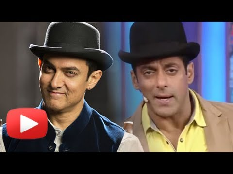 Salman Khan Promotes Aamir Khan's Look On Bigg Boss 7-dhoom 3 Promotion video