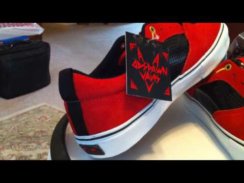 VANS DD Spawn - Red / Black patent colorway... Video