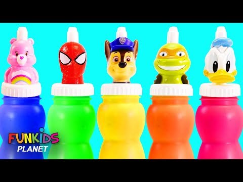 Surprise Bottles with Paw Patrol, Donald Duck and Care Bear