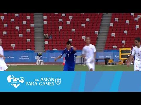 Cerebral Palsy Football THA VS SIN (Day 3) Full Time Highlights   8th ASEAN Para Games 2015