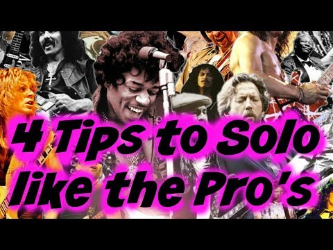 4 Cool Tips To Solo Like The PRO's (Mix Pentatonic Scales, Blues, Rock, Metal)