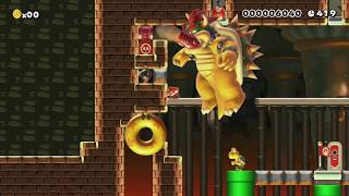 激突!クッパ城の最終決戦! by メルス - Super Mario Maker - No Commentary
