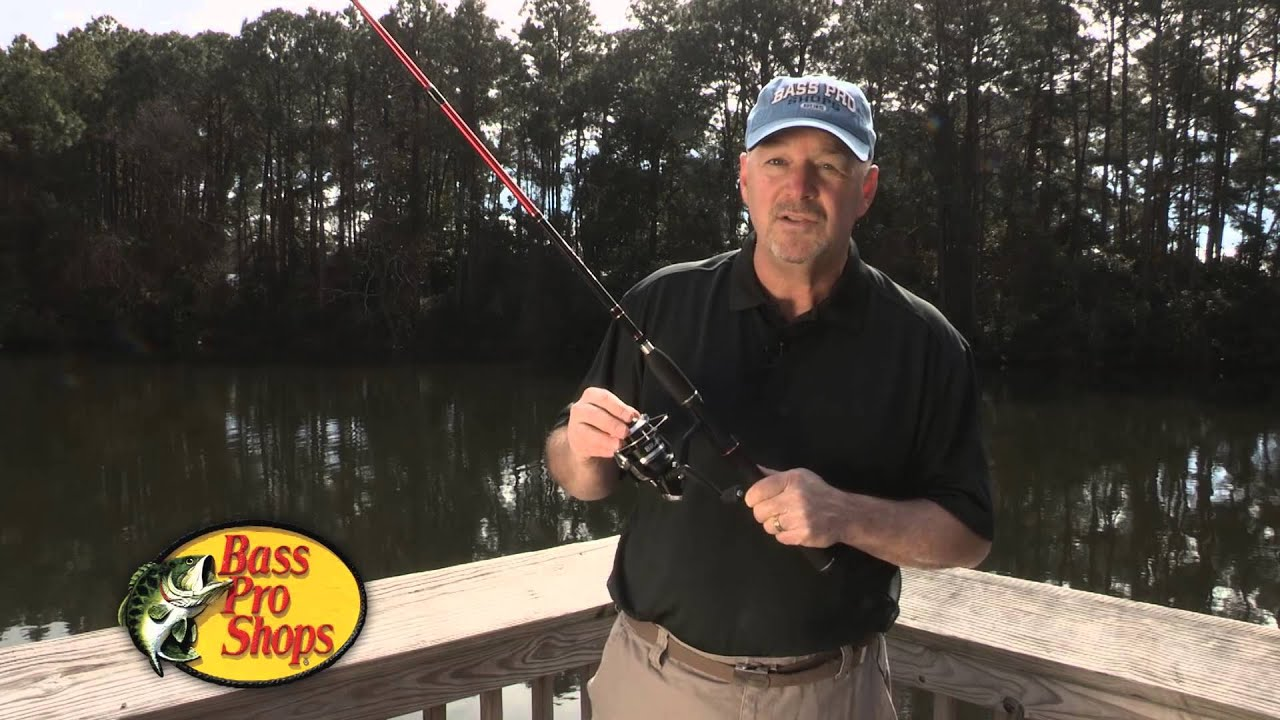 Bass pro shops brawler spinning rod and reel combo youtube for Bass pro fishing rods