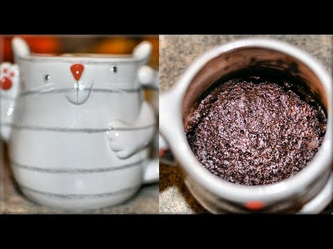 How to make Brownie in a Mug! Microwave brownies! - CookwithApril