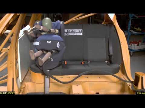 Краш-тест Cybex Sirona ADAC 2013, боковой удар