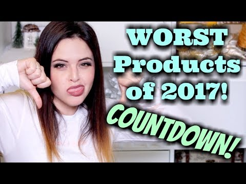 WORST Makeup Products of 2017 COUNTDOWN!   Jen Luvs Reviews