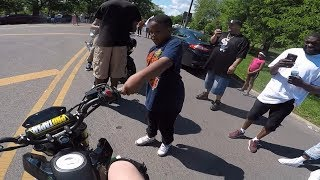 Grom Stunters SHUTDOWN Party in Chicago's West Side Hood!