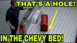 Chevy bed punctured! Deceptive Commercial