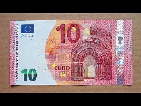 New 10 Euro Banknote (Ten Euro / 2014) Obverse & Reverse