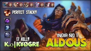 Killing Machine!! No Mercy Perfect Soul Steal Aldous! Ꮶ.օ|Ԟ¥Ø₲ɌɆ India No 1 Aldous ~ Mobile Legends
