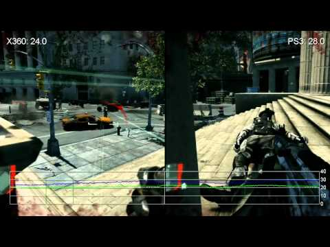 Crysis 2 360 vs PS3 Frame Rate Gameplay Comparison HD
