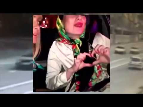 crashing car of 2 sexy iranian girl were they dancing and drinking with cctv camera