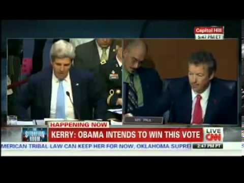 Rand Paul Challenges John Kerry On The Legality Of Obama Bombing Syria W/O Congressional Approval